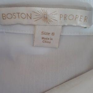 Boston Proper Tops - Boston Proper Faux Leather Peplum Top - New!